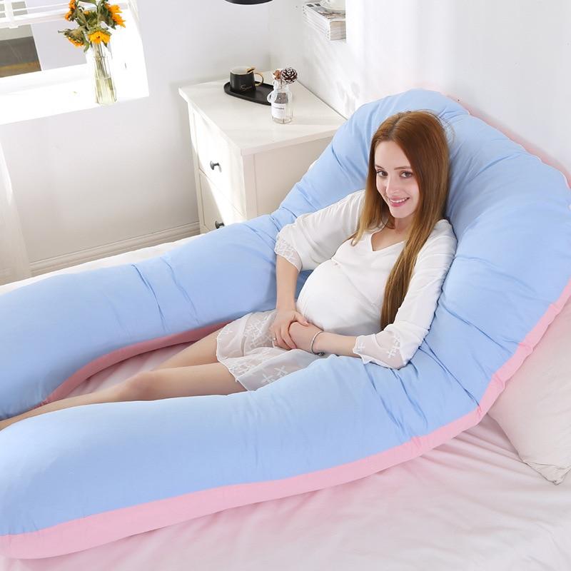Pregnancy Pillow Bedding Full Body Pillow For Pregnant Women Comfortable U-Shape Cushion Long Side Sleeping Maternity Pillows
