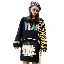 Dress Sweatshirt Print Sequin
