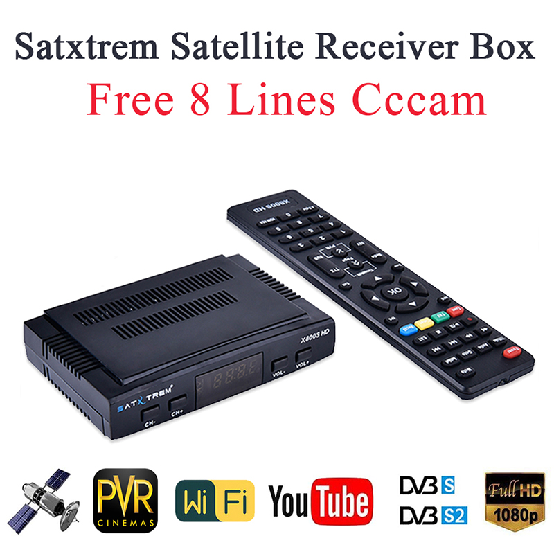 Satxtrem X800S HD Satellite TV Receiver Decoder DVB S2 Digital Satelite Receptor TV Tuner Box HD 8 Clines Europe Cccam Newcam-in Satellite TV Receiver from Consumer Electronics on AliExpress - 11.11_Double 11_Singles' Day 1