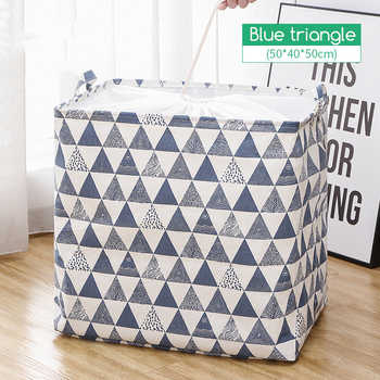 1pc Cotton Clothing Storage Bags For Toys Organizer For Clothes Wardrobe Eco Bag To Store Clothes Quilt Storage Items Waterproof
