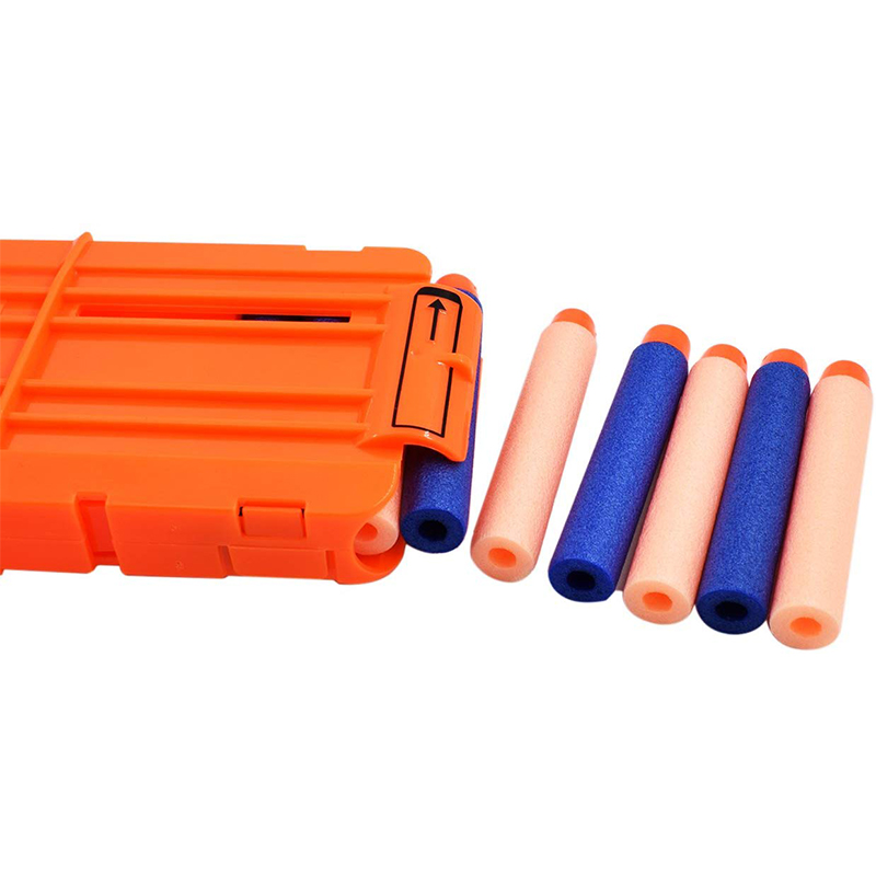 12 Orange Reload Clip For Nerf Magazine Round Darts Replacement Toy Gun Soft Bullet Clip For Nerf Blaster Toy Gun Replacement