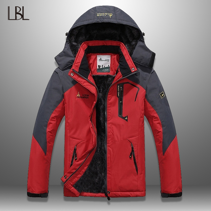 Winter   Parka   Men Windproof Hooded Men's Anorak Jackets Thick Warm Fur Coats Male Military Men's Outwear Overcoat Waterproof 5XL