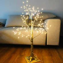 220V-240V EU Plug 150 LED Lights Golden Color Branch Tree Lamp  Floor Stand Tree Light For Christmas Home Decoration Lights D20