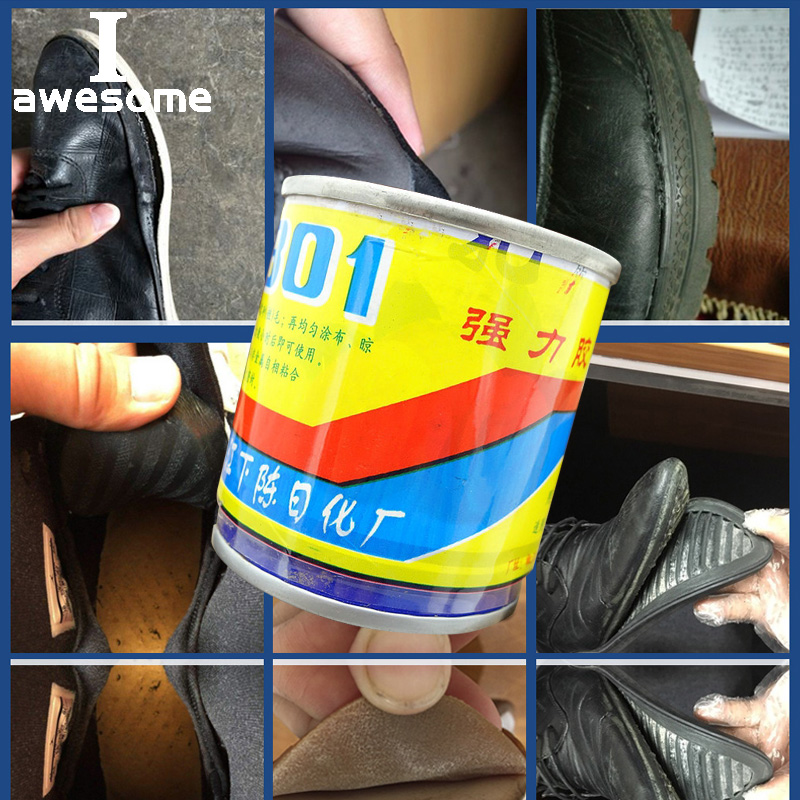 Iawesome Shoe Waterproof Glue Quick-drying For Leather Shoes Rubber Shoe Strong Super Glue Liquid Leather Rubber For Fabric Repair Tool Epoxy Sticky Adhesive Shoes Care Kit Tool