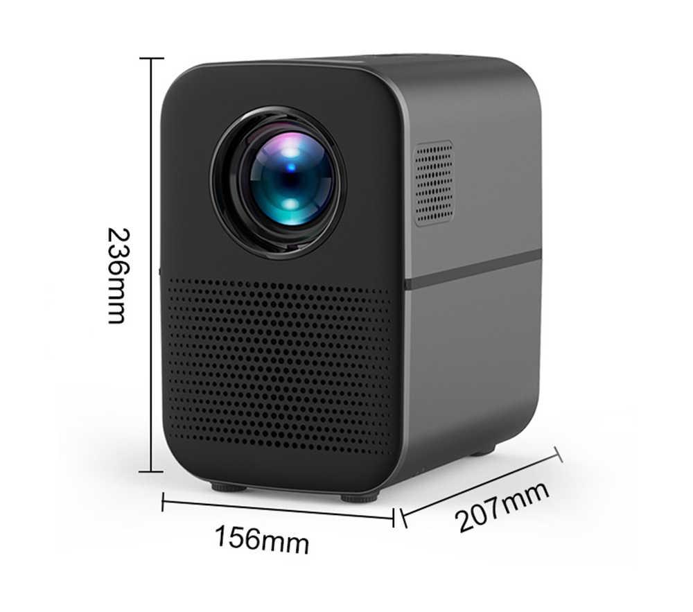 ALSTON-Proyector Led M6 Full HD, cine en casa, con 4000 lúmenes, HDMI, USB, 1080p, portátil, Proyector de cine