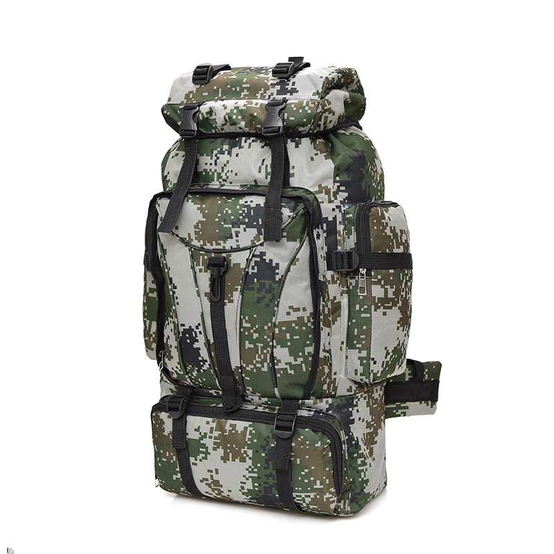Camouflage Mountaineering Bag Backpack Men's 70L L Large Capacity Outdoor Backpack Camping Luggage Backpack Army Fans