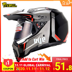 Image 1 - BYE Motorcycle Helmet Motocross Helmet casco moto Motorbike Racing Moto Helmet Biker Full Face Helmets ECE DOT Certification