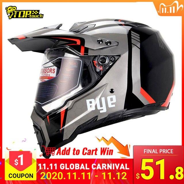 BYE Motorcycle Helmet Motocross Helmet casco moto Motorbike Racing Moto Helmet Biker Full Face Helmets ECE DOT Certification