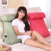 Стерео клиновидная форма Подушка для спины поясная подушка моющаяся хлопчатобумажная льняная диванная подушка для кровати для отдыха для ...