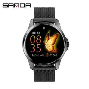 Image 2 - SANDA Full Cảm Ứng Sang Trọng Nam Đồng Hồ Thông Minh Chống Nước Thể Thao Đo Sức Đi Bộ Theo Dõi Nhịp Tim Nữ Đồng Hồ Đồng Hồ Thông Minh Smartwatch