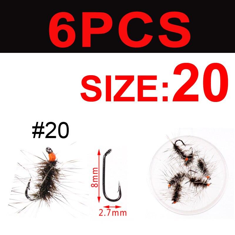 6 pcs size 20 Griffith/'s Gnat