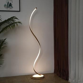 Minimalist LED Spiral Floor Standing Lamp Floor Lamps