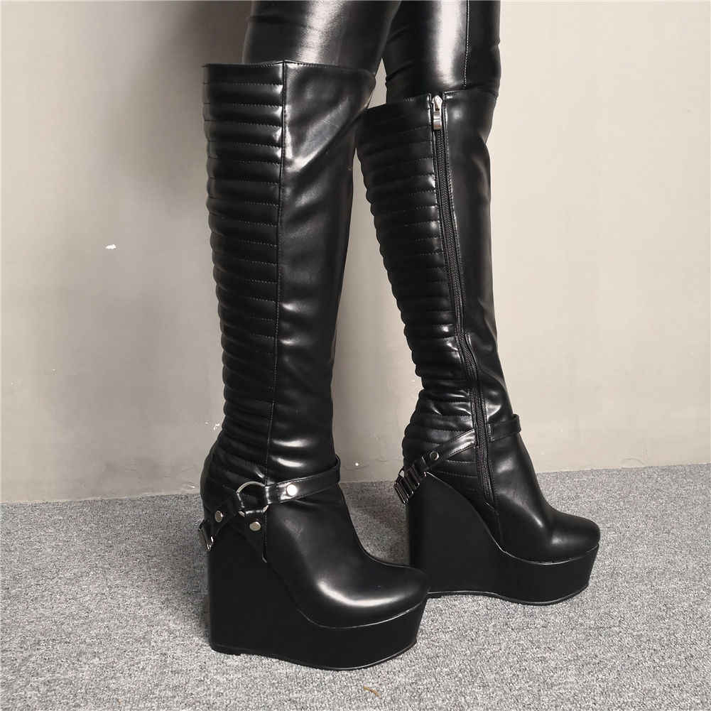 נשים של מותג עיצוב גדול גודל 47 מותאם אישית סקסי נשים נעלי חורף מגפי נשף מסיבת עקבים גבוהים טריזי נעלי אישה מגפיים