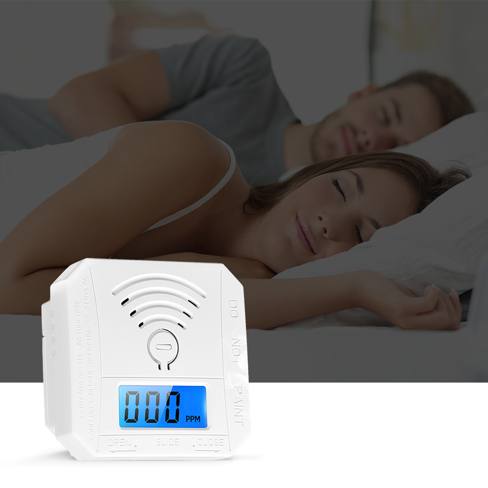 Steady Carbon Monoxide Detector Alarm Mini Co Detector Alarm Sensor With Digital Display Battery Operated For House Bedroom Living Room Without Return