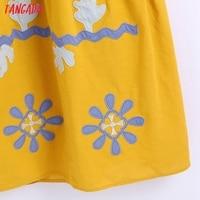 Tangada Women's Summer Embroidery Romantic Cotton Dress Strap Adjust Sleeveless 2021 Korean Fashion Lady Elegant Dresses CE313 5