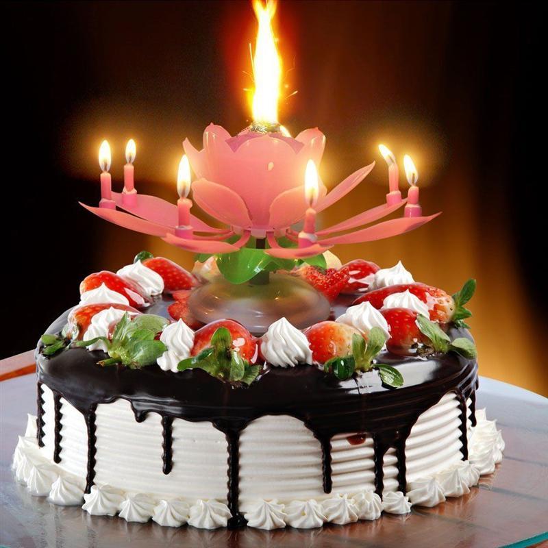 Поздравления торт со свечами