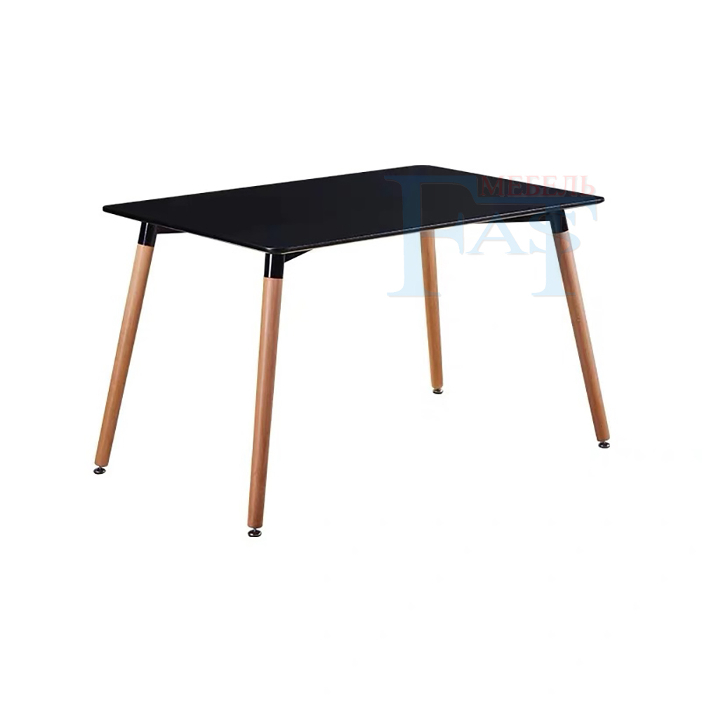 Home Dining Table Rectangle Table Black Paint Table On Beech Legs  Kitchen Table Modern Table 120*60cm For Russian Family