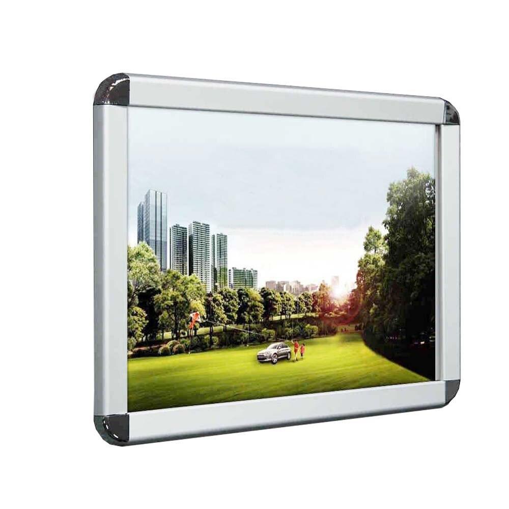 (Упаковка/5 шт.) Алюминиевая защелкивающаяся рамка для плаката, рамка для плаката с 25 мм каймой и круглым угловым YAPF 002