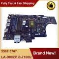 Dell Inspiron 15 5567 5767 노트북 마더 보드 메인 보드 i3-7100U CN-057K0H 057K0H 57K0H BAL21 LA-D802P 100% 테스트