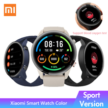 Xiaomiスマート時計の色スポーツバージョンXMWTCL01 1.39「amoled SPO2血液酸素モニター男女性はmiスマートウォッチ2020