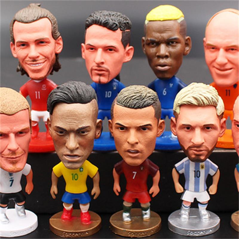 Football Characters Model Statuettes Toy Soccer Star Action Dolls Figurine Football Player Fans Gift Supply Home Decoration