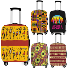 Case Suitcase-Cover Travelling Trolley Elastic Dustproof Afro Printing-Pattern Africa