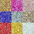 JHNBY 3 мм 200 шт. AAA двухконусная высококлассная Бриллиантовая цветная обшивка насыпью браслет из бисера аксессуары для изготовления ювелирных...