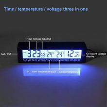 LED Alarm Clock Digital Table Clock Car Electronic Large Tim