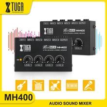 XTUGA 4 قناة الصوت خلاط المهنية فائقة منخفضة الضوضاء الصوت الصوت خلاط مكبر للصوت ل وحات المفاتيح ، خلاطات ، آلات موسيقية