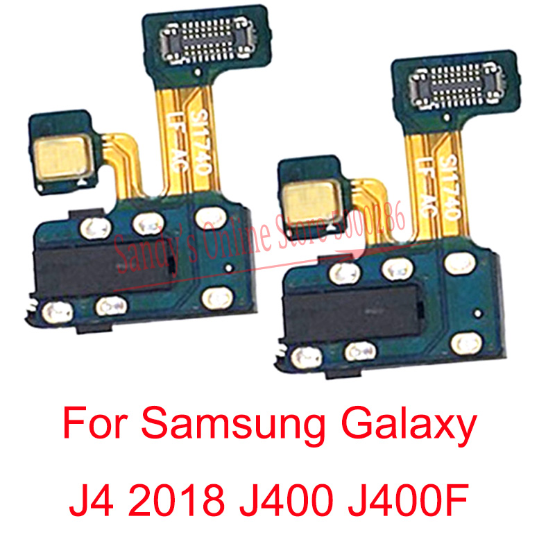 10 pçs fone de ouvido jack áudio microfone cabo flexível para samsung galaxy j4 2018 j400 j400f M-J400F áudio jack peças reparo