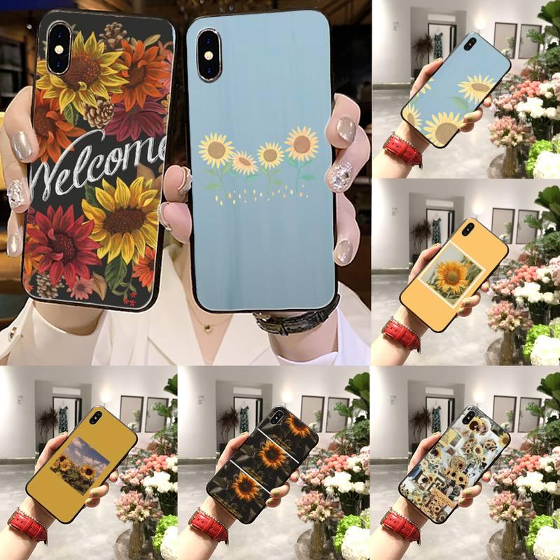 Temptation sunflower Phone Case for iPhone 11 12 pro XS MAX 8 7 6 6S Plus X 5S SE 2020 XR
