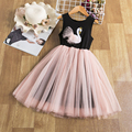 Кружевное платье для девочек с цветочным принтом платье для девочек; Платье принцессы; Детское платье без рукавов вечерние бальное платье, ...