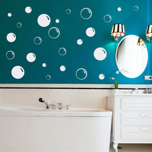 Bubbles Wall Decal Bubble Bathroom Decal Soap Bubble Pattern Decor Set of 25 Kid Bedroom Decoration PW984(China)