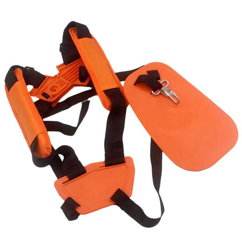 Double Tali Bahu Pemangkas Rumput Cutter Harness Belt Taman Power Pemangkas Kuning