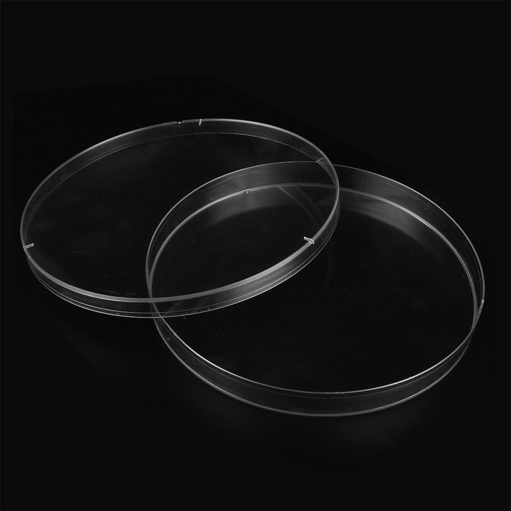2Pcs 150mm Plastic Petri Dishes Bacterial Culture Microorganism Cell Clear Petri Dish Biological Chemistry Laboratory Instrument