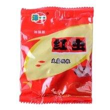 1 мешок рыболовная приманка красный червь зерна с резинкой карп приманка частицы снасти запах против насекомых для рыбалки аксессуары