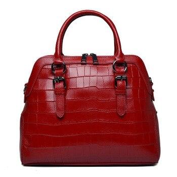 Leather handbag for ladies fashion shell handbag crocodile skin handbag for ladies one shoulder shoulder bag.womenbags фото