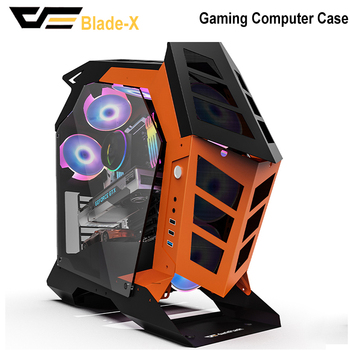 DarkFlash Knight-1 Computer Case ATX/M-ATX/ITX DIY Mid Tower With Tempered Glass Gaming Glass Gabinete PC Gamer Case