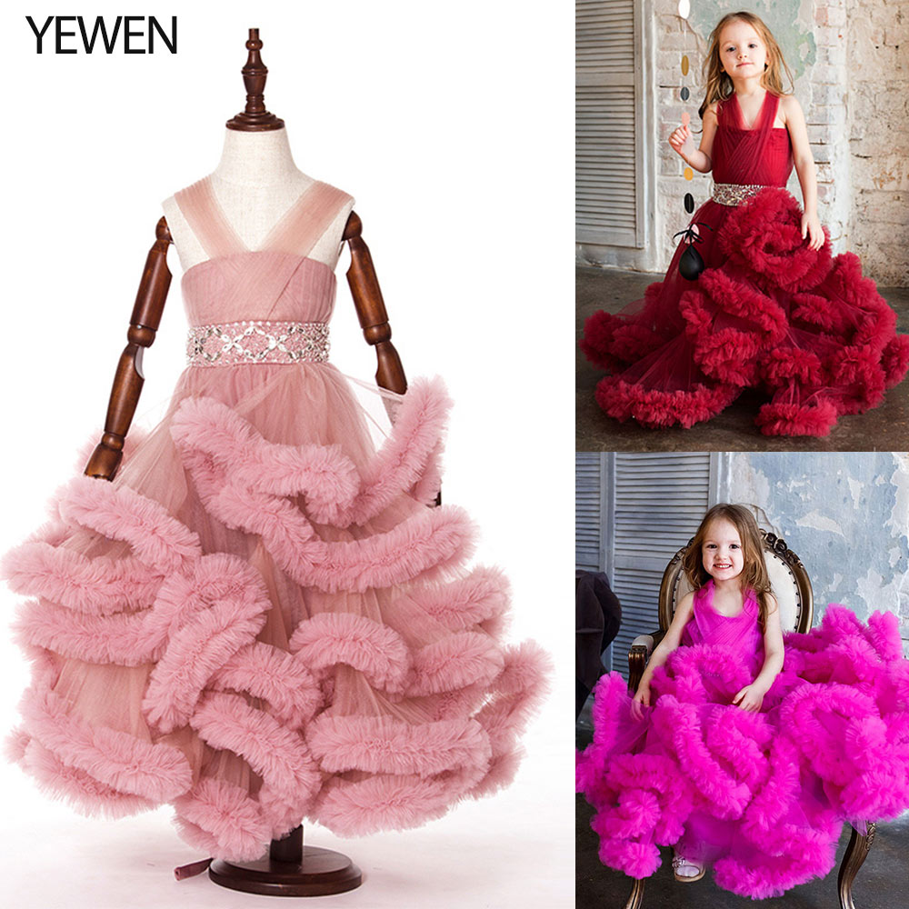 Cloud little   flower     girls     dresses   for weddings Baby Party frocks sexy children images   Dress   kids prom   dresses   evening gowns 8007