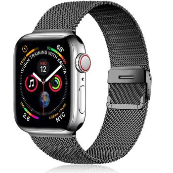 flim strap for apple watch 5 band 44mm 40mm iwatch band 42mm 38mm milanese loop bracelet metal watchband for apple watch 4 3 2 1 Milanese strap For Apple watch serie 6 5 4 se 3 iWatch band 42mm 38mm Metal Stainless steel bracelet Apple Watch band 44mm 40mm
