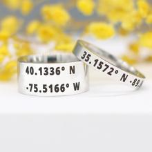 Coordinate-Ring Stainless-Steel Customize Personalized Ring-Anniversary Gifts for Family
