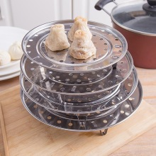 Steamer-Tray Kitchenwares Dumpling Cooking-Tools Stainless-Steel Round Three-Leg Convient