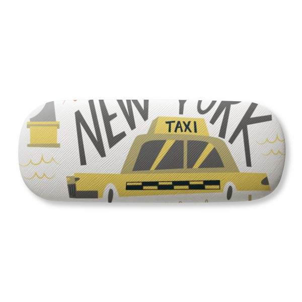 America New York City Liberty Illistration Glasses Case Eyeglasses Clam Shell Holder Storage Box image