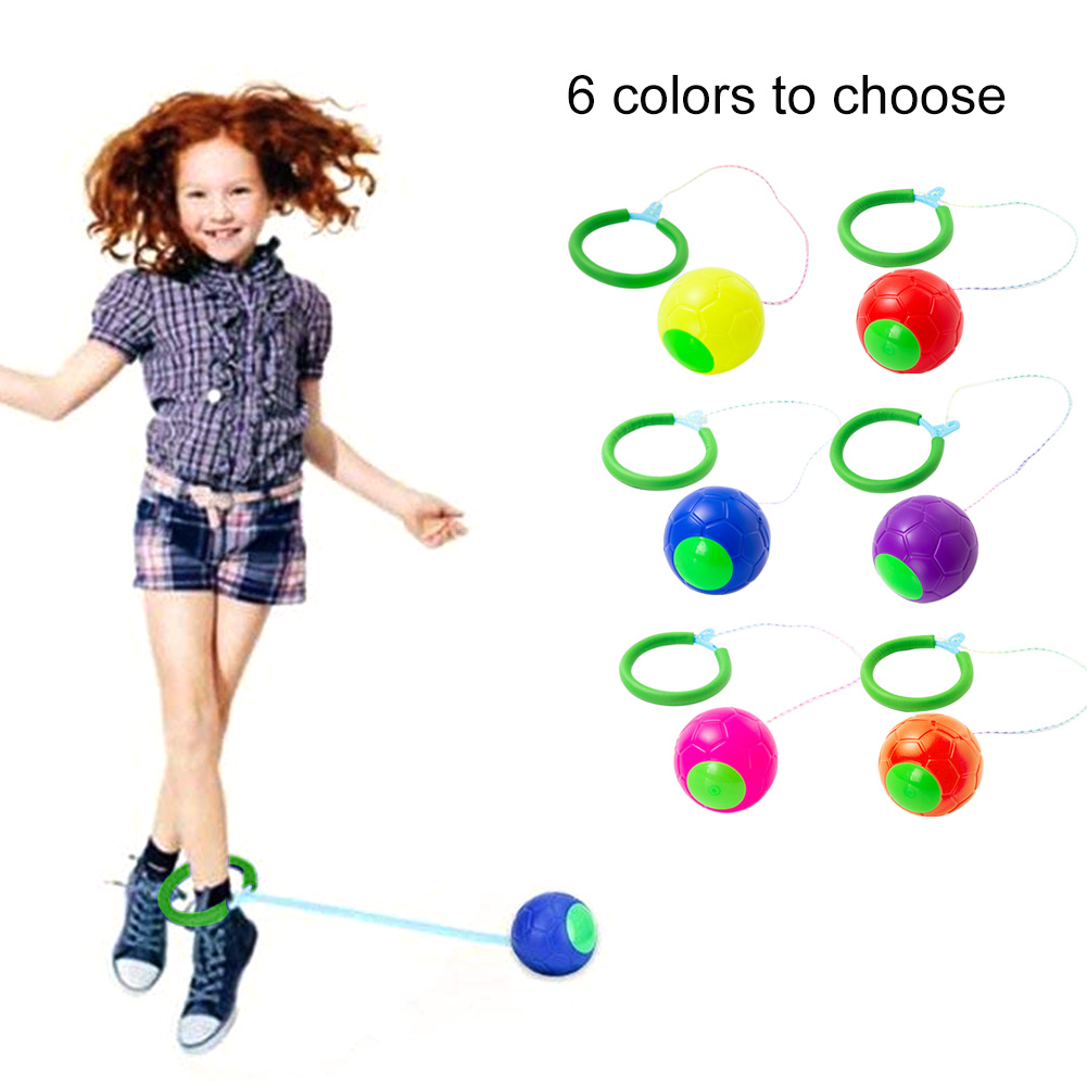6 Colors One Foot Fun Toy Skip Ball For Kids Classical Gift Outdoor Sports Entertainment