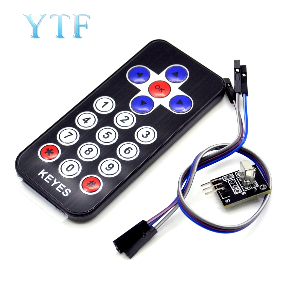 Smart Electronics Hot Sale Black Infrared IR Wireless Remote Control Module Kits For Uno DIY Kit