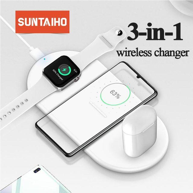 Suntaiho 10W Schnelle Drahtlose Ladegerät Für 11 Pro XS Max XR X 8Plus Für Samsung Galaxy S10 Plus s9 S9 + S8 Hinweis 9 USB Qi Lade Pad