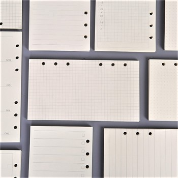 45PCS high quality binder notebook A5/A6 insert refill 6 hole loose leaf spiral notebook paper diary plan inner core paper a5 a6 a7 accountant planner diary insert loose leaf refill schedule organiser 45 sheets note core inner school office supply