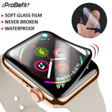 PET + PMMA wodoodporny ekran ochronny do zegarka apple 5 4 3 38MM 40MM 44MM 42MM nie hartowana folia z miękkiego szkła do Iwatch 4 5 tanie tanio ProBefit Łatwy w Instalacji Nano powlekane szkło hartowane filmu