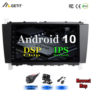 8'' Android 10 2 DIN Car DVD GPS For Mercedes/Benz W203 W209 W219 A-Class A160 C-Class C180 C200 CLK200 radio stereo(China)