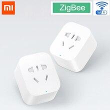 Xiaomi mijia интеллектуальная розетка Zigbee версия WiFi беспроводной пульт дистанционного управления гнездо адаптера питание таймер включения и выключения через приложение